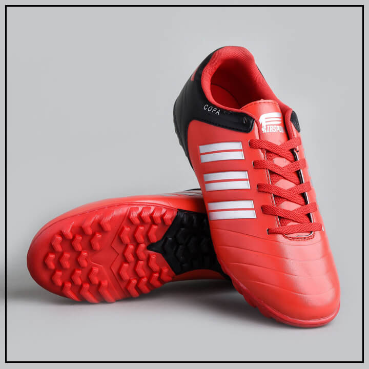 giày đá bóng màu đỏ đen airsport