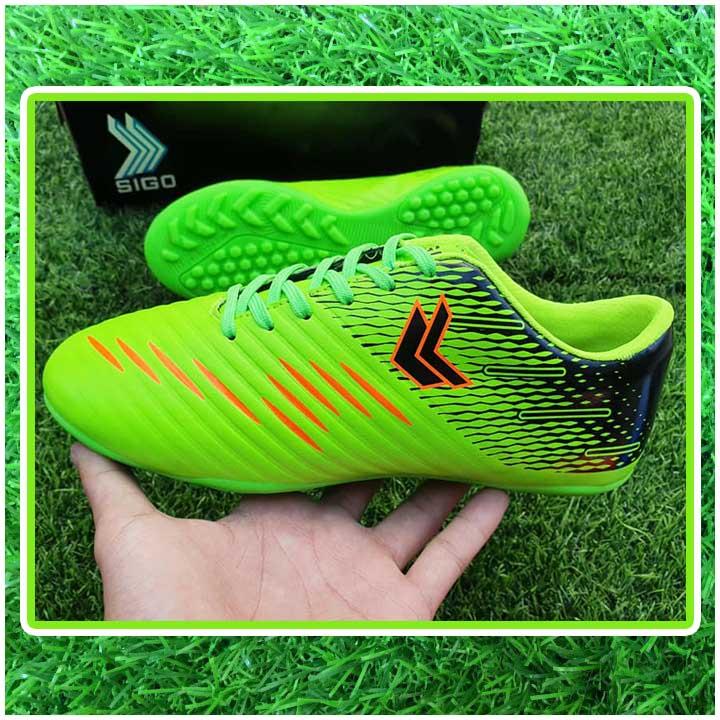 giày đá bóng trẻ em màu xanh chuối