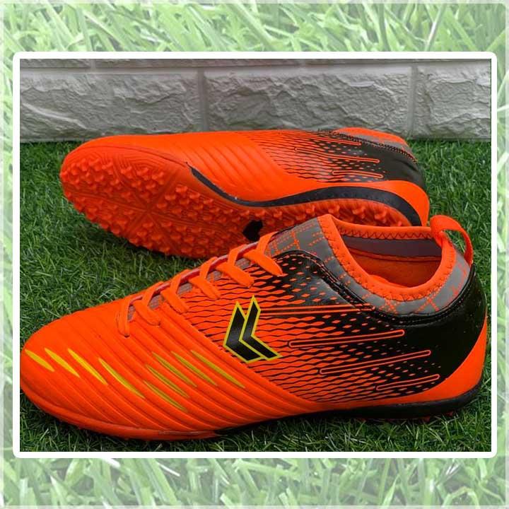 giày đá bóng màu cam đen sigo speed